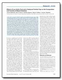 Effects of Low Sulfur Fuel and a Catalyz... by Mcdonald, Jacob D.