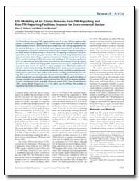 Gis Modeling of Air Toxics Releases from... by Dolinoy, Dana C.