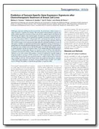 Prediction of Toxicant-Specific Gene Exp... by Troester, Melissa A.
