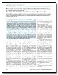 Exposure to Environmental Tobacco Smoke ... by Yolton, Kimberly