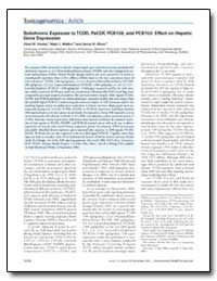 Subchronic Exposure to Tcdd, Pecdf, Pcb1... by Vezina, Chad M.