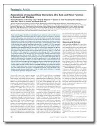 Associations Among Lead Dose Biomarkers,... by Weaver, Virginia M.