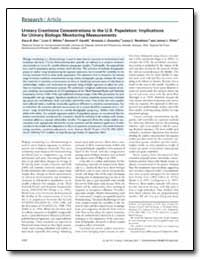 Urinary Creatinine Concentrations in the... by Barr, Dana B.