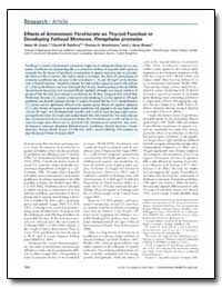 Effects of Ammonium Perchlorate on Thyro... by Crane, Helen M.