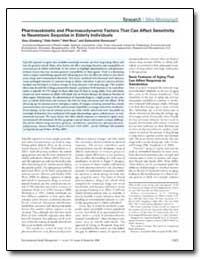 Pharmacokinetic and Pharmacodynamic Fact... by Ginsberg, Gary