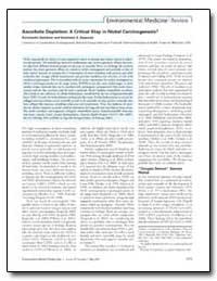 Ascorbate Depletion : A Critical Step in... by Kasprzak, Kazimierz S.
