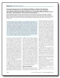 Exposure Assessment in the National Chil... by Needham, Larry L.