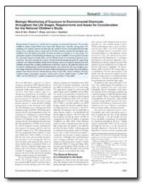 Biologic Monitoring of Exposure to Envir... by Barr, Dana B.