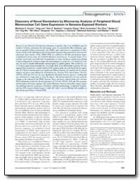 Discovery of Novel Biomarkers by Microar... by Forrest, Matthew S.