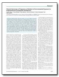 Thyroid Hormones in Pregnancy in Relatio... by Takser, Larissa