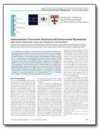 Hypersensitivity Pneumonitis Associated ... by Beckett, William
