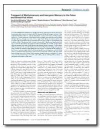 Transport of Methylmercury and Inorganic... by Berglund, Birgitta
