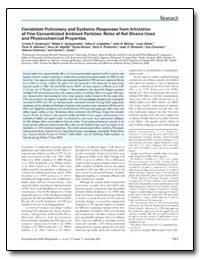 Consistent Pulmonary and Systemic Respon... by Kodavanti, Urmila P.