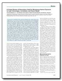 A Critical Review of Biomarkers Used for... by Barbosa, Fernando