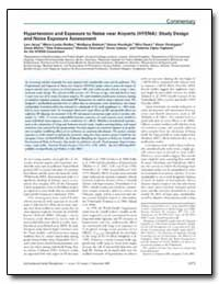 Hypertension and Exposure to Noise Near ... by Dudley, Marie-Louise
