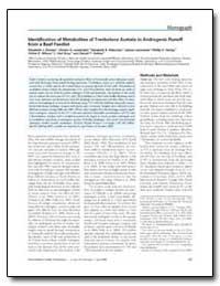 Identification of Metabolites of Trenbol... by Durhan, Elizabeth J.
