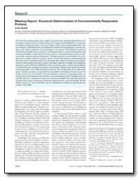 Meeting Report : Structural Determinatio... by Reinlib, Les, Ph. D.