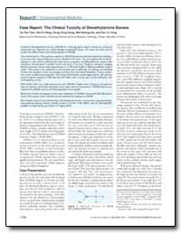 Case Report : The Clinical Toxicity of D... by Swan, Shanna H.