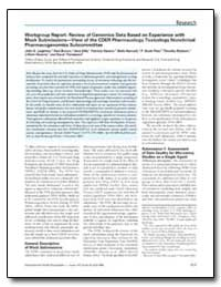 Workgroup Report : Review of Genomics Da... by Leighton, John K.