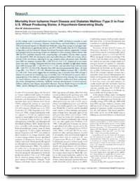 Mortality from Ischemic Heart Disease an... by Schreinemachers, Dina M.