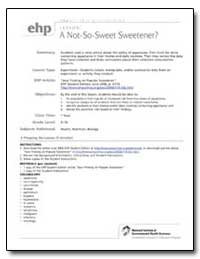 Sour Finding on Popular Sweetener - Ehp ... by Stephan, Wendy