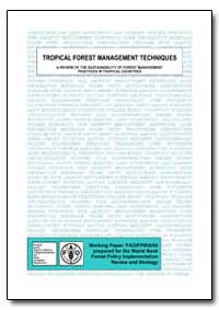 Tropical Forest Management Techniques a ... by Durst, Patrick B.
