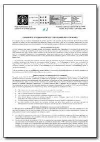 Commerce, Environnement et Developpement... by Food and Agriculture Organization of the United Na...