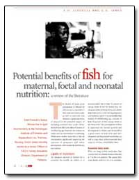 Potential Benefits of Fish for Maternal,... by Food and Agriculture Organization of the United Na...