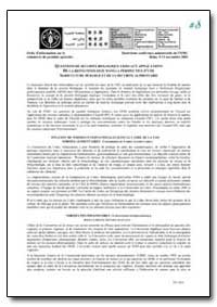 Questions de Securite Biologique Liees A... by Food and Agriculture Organization of the United Na...
