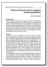 Trees as Browse and to Support Animal Pr... by Baumer, M.