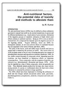 Anti-Nutritional Factors, The Potential ... by Kumar, R.