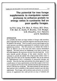 The Potential for Tree Forage Supplement... by Leng, R. A.