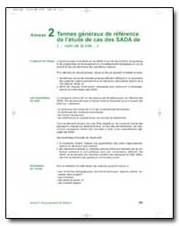 Termes Generaux de Reference de Letude d... by Food and Agriculture Organization of the United Na...