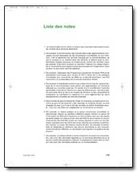 Liste des Notes by Food and Agriculture Organization of the United Na...