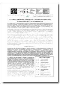La Calidad E Inocuidad de Los Alimentos ... by Food and Agriculture Organization of the United Na...