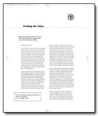 Feeding the Cities by Food and Agriculture Organization of the United Na...