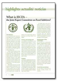 What Is Jefca the Joint Expert Committee... by Food and Agriculture Organization of the United Na...