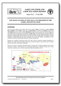 The Rainy Season Is Now Well Established... by Food and Agriculture Organization of the United Na...
