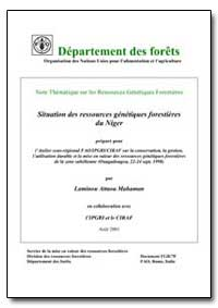 Situation des Ressources Genetiques Fore... by Mahaman, Laminou Attaou