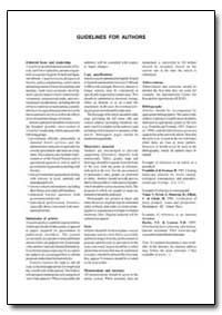 Guidelines for Authors by Food and Agriculture Organization of the United Na...