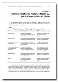 Chapter 3 Thiamin, Riboflavin, Niacin, V... by Food and Agriculture Organization of the United Na...