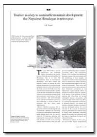 Tourism as a Key to Sustainable Mountain... by Nepal, S. K.