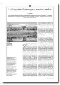 Les Ecosystemes de Montagne et Leur Mise... by Muthoo, M.