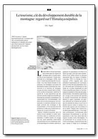 Le Tourisme, Cle du Developpement Durabl... by Nepal, S. K.