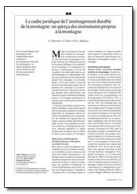 Le Cadre Juridique de Lamenagement Durab... by Villeneuve, A.