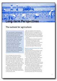 Long-Term Perspectives by Food and Agriculture Organization of the United Na...