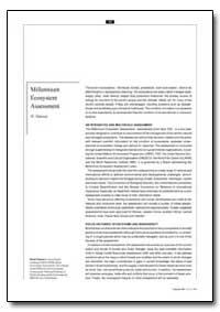 Millennium Ecosystem Assessment by Simons, H.