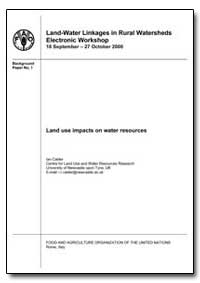 Land Use Impacts on Water Resources by Calder, Ian