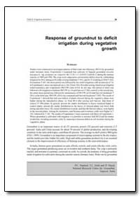 Response of Groundnut to Deficit Irrigat... by Food and Agriculture Organization of the United Na...