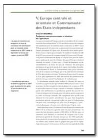 Europe Centrale et Orientale et Communau... by Food and Agriculture Organization of the United Na...